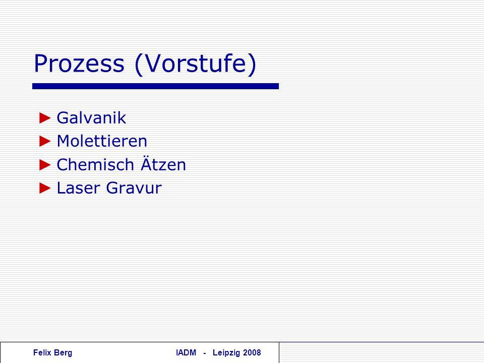 Prozess (Vorstufe) ► Galvanik ► Molettieren ► Chemisch Ätzen