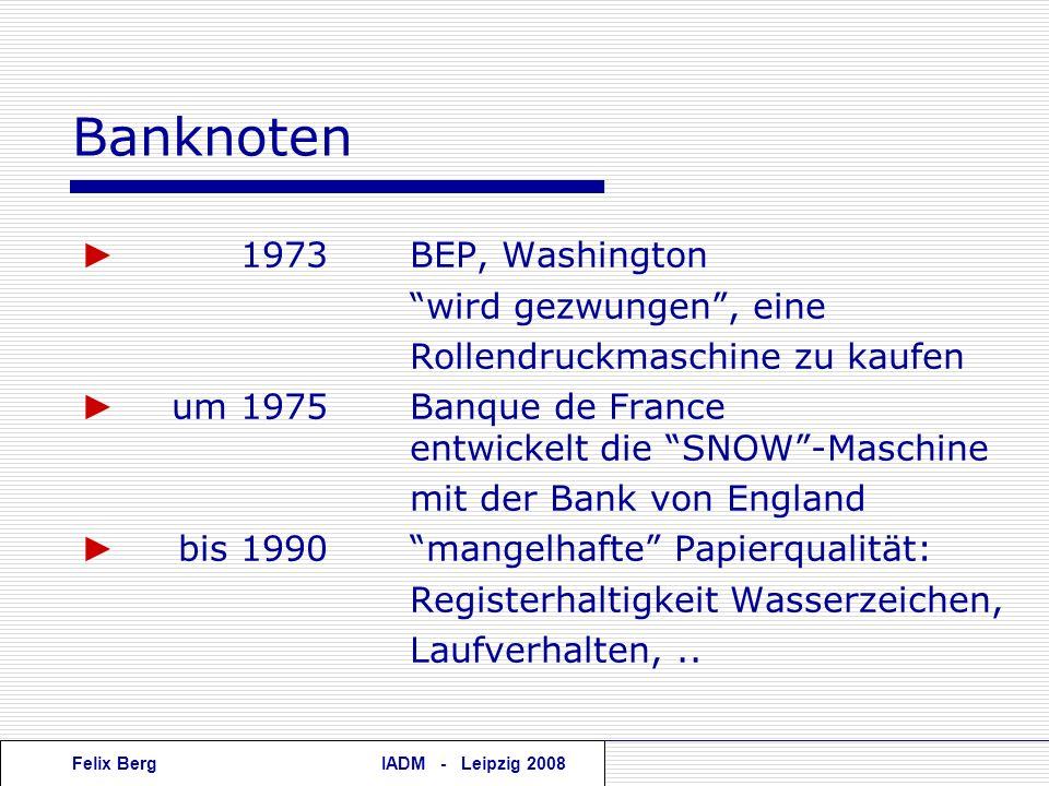 Banknoten ► 1973 BEP, Washington wird gezwungen , eine