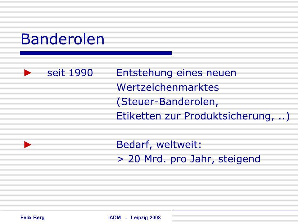 Banderolen ► seit 1990 Entstehung eines neuen Wertzeichenmarktes