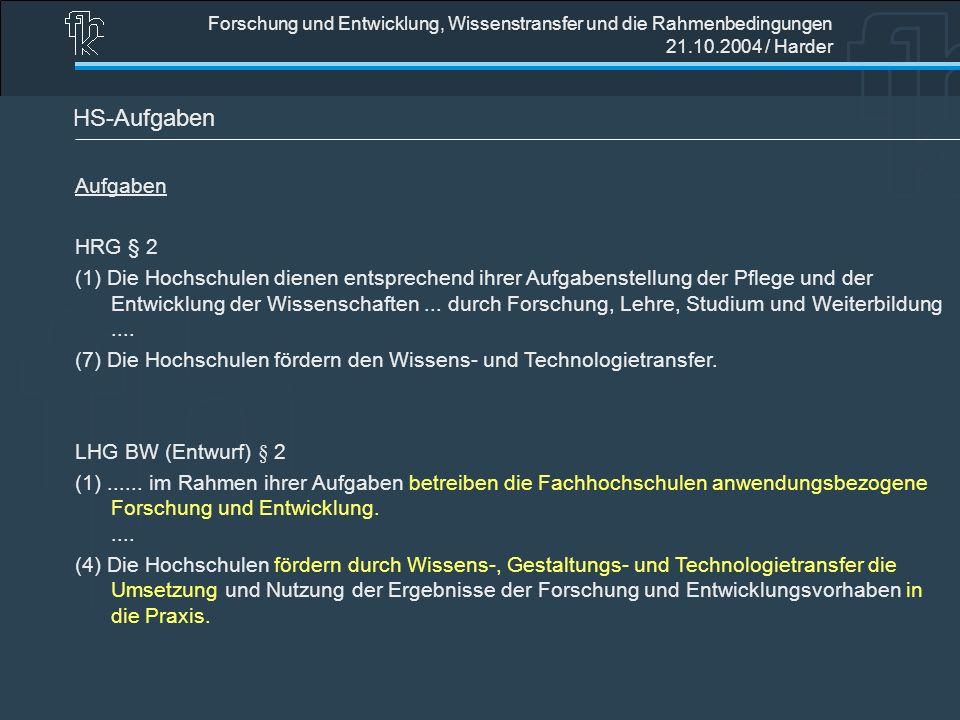 HS-Aufgaben Aufgaben HRG § 2