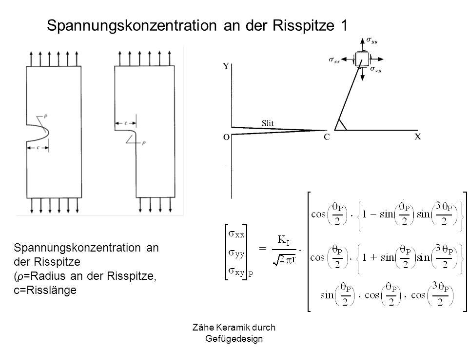 Spannungskonzentration an der Risspitze 1