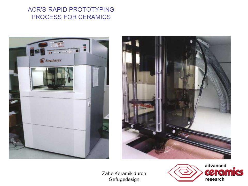 ACR'S RAPID PROTOTYPING PROCESS FOR CERAMICS