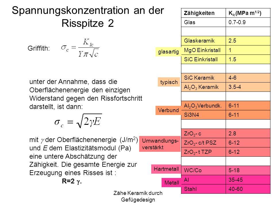 Spannungskonzentration an der Risspitze 2