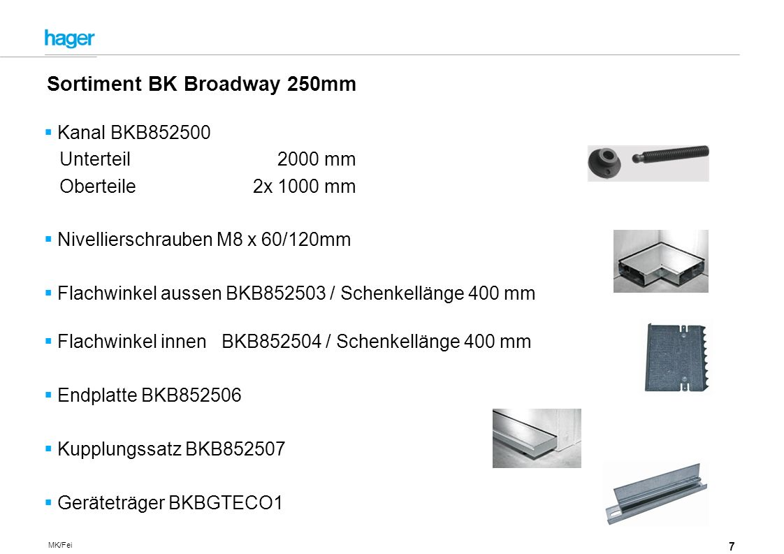 Sortiment BK Broadway 250mm