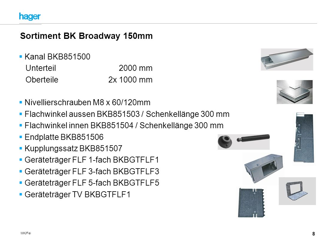 Sortiment BK Broadway 150mm