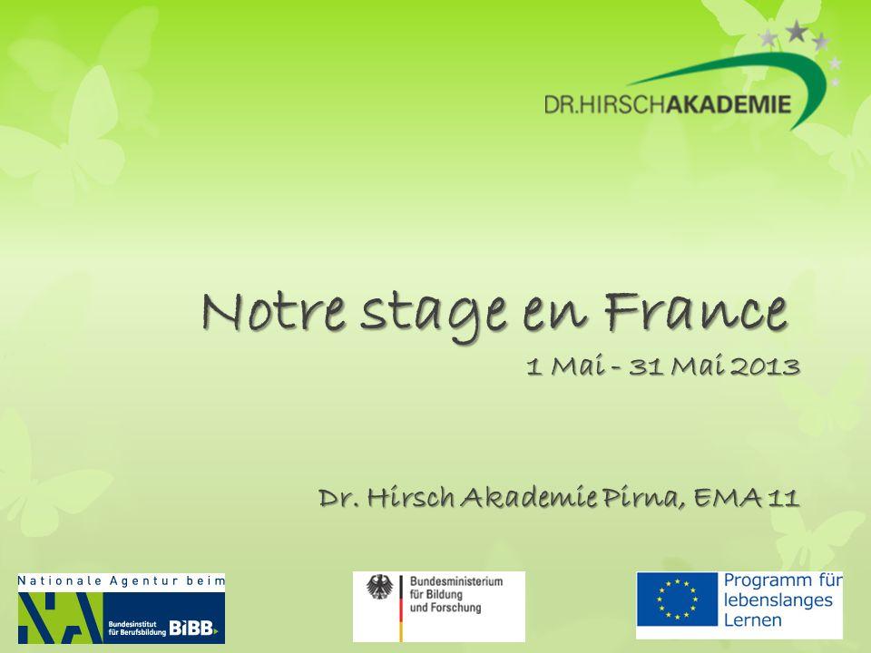 1 Mai - 31 Mai 2013 Dr. Hirsch Akademie Pirna, EMA 11