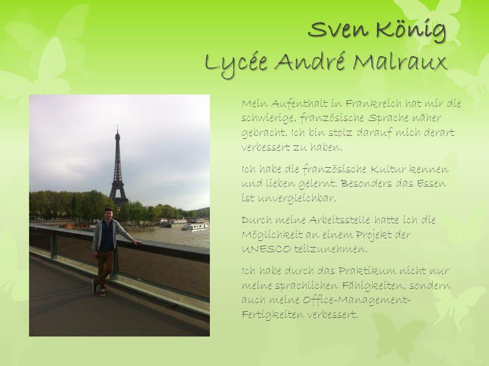 Sven König Lycée André Malraux