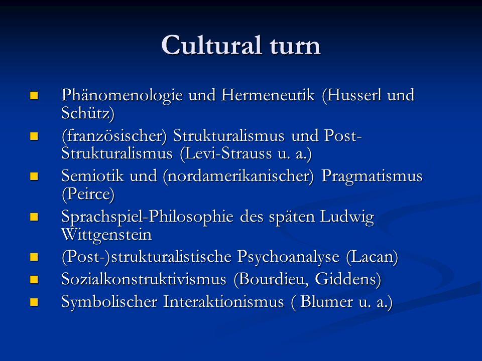 Cultural turn Phänomenologie und Hermeneutik (Husserl und Schütz)