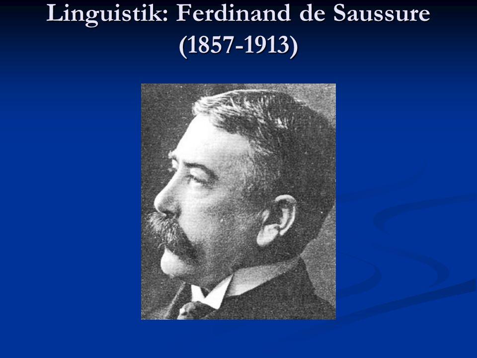 Linguistik: Ferdinand de Saussure (1857-1913)