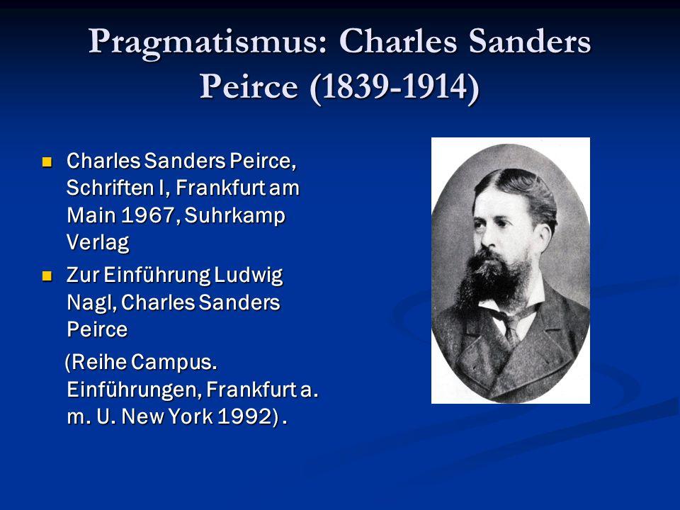Pragmatismus: Charles Sanders Peirce (1839-1914)
