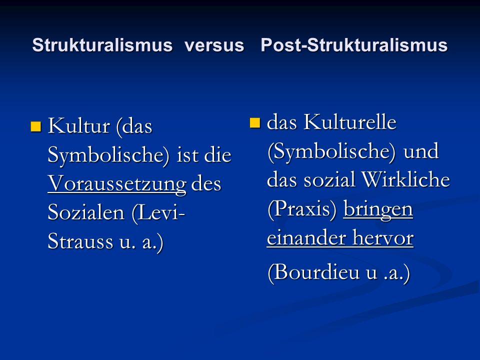 Strukturalismus versus Post-Strukturalismus