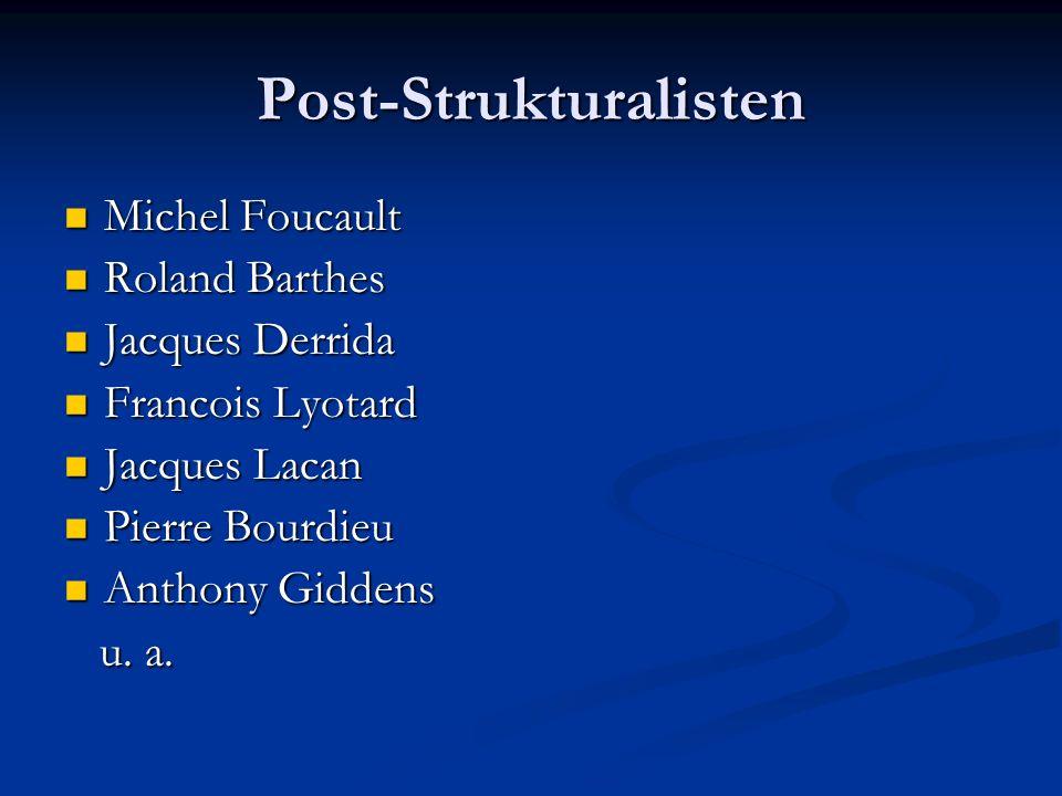 Post-Strukturalisten