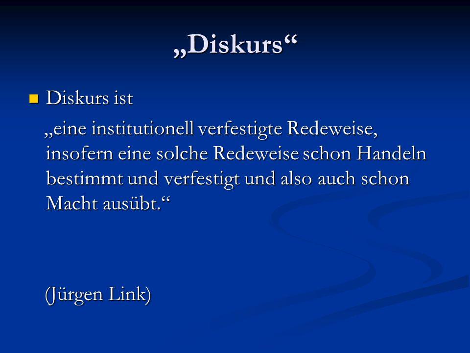 """Diskurs Diskurs ist."