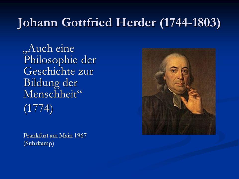 Johann Gottfried Herder (1744-1803)