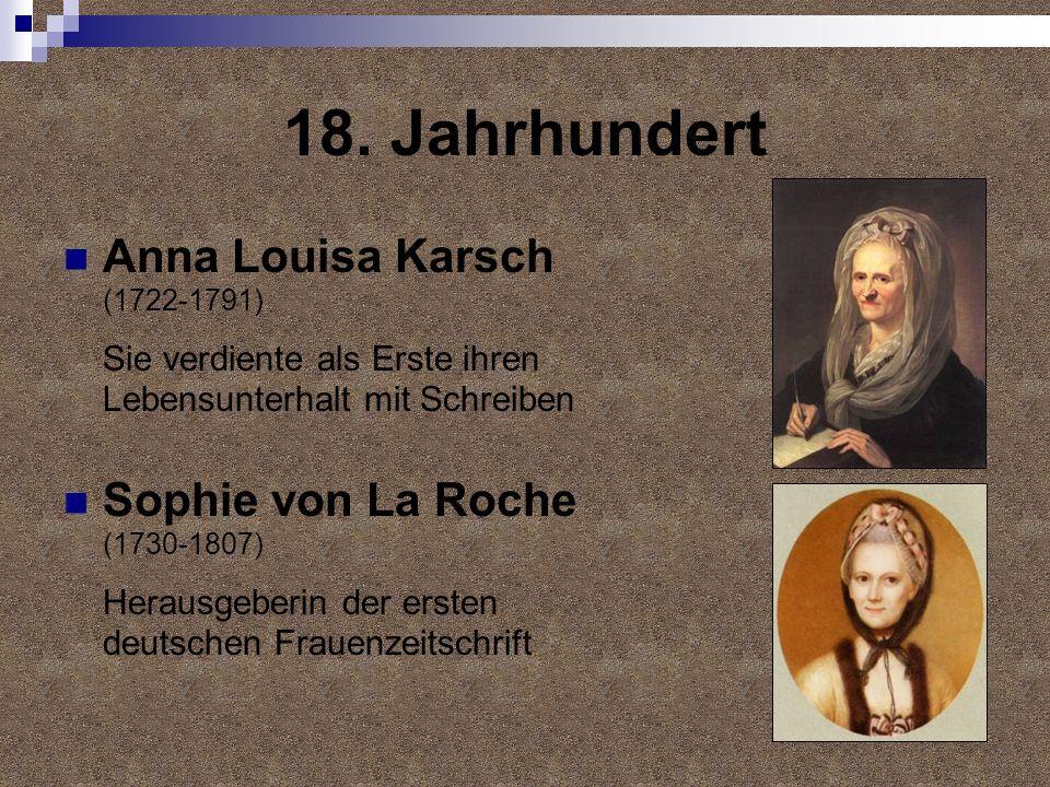 18. Jahrhundert Anna Louisa Karsch (1722-1791)