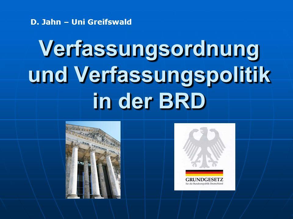 Verfassungsordnung und Verfassungspolitik in der BRD