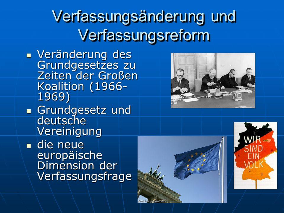 Verfassungsänderung und Verfassungsreform