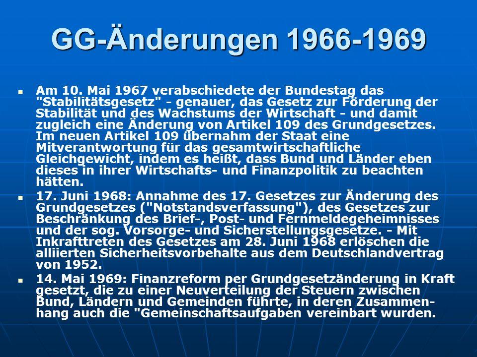 GG-Änderungen 1966-1969