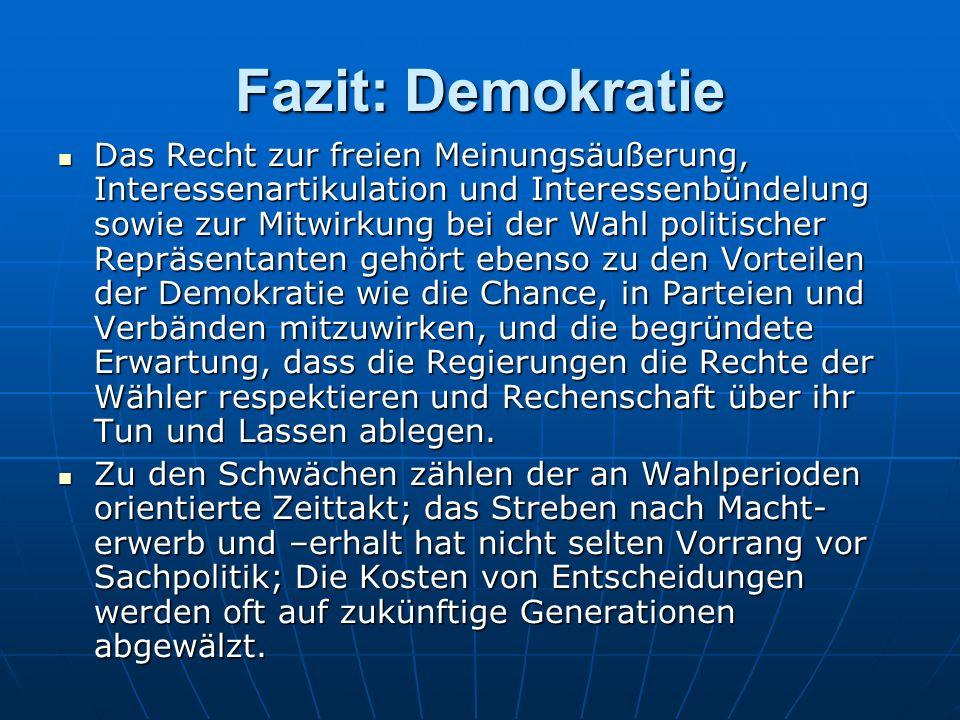 Fazit: Demokratie