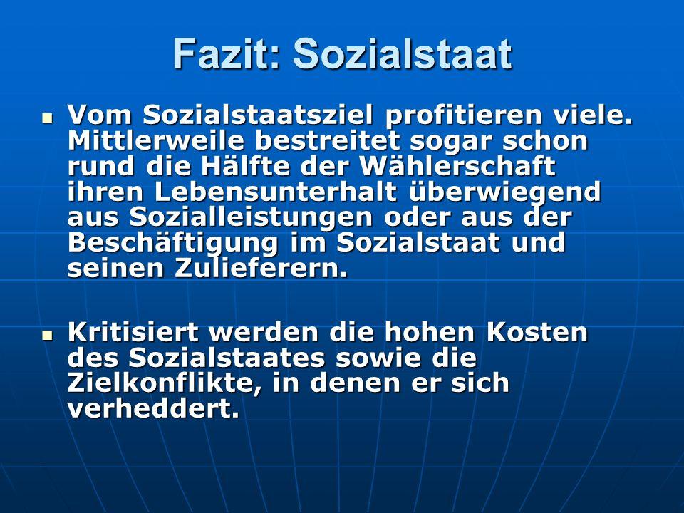 Fazit: Sozialstaat