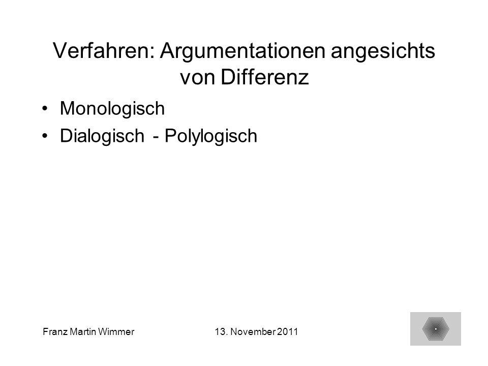 Verfahren: Argumentationen angesichts von Differenz