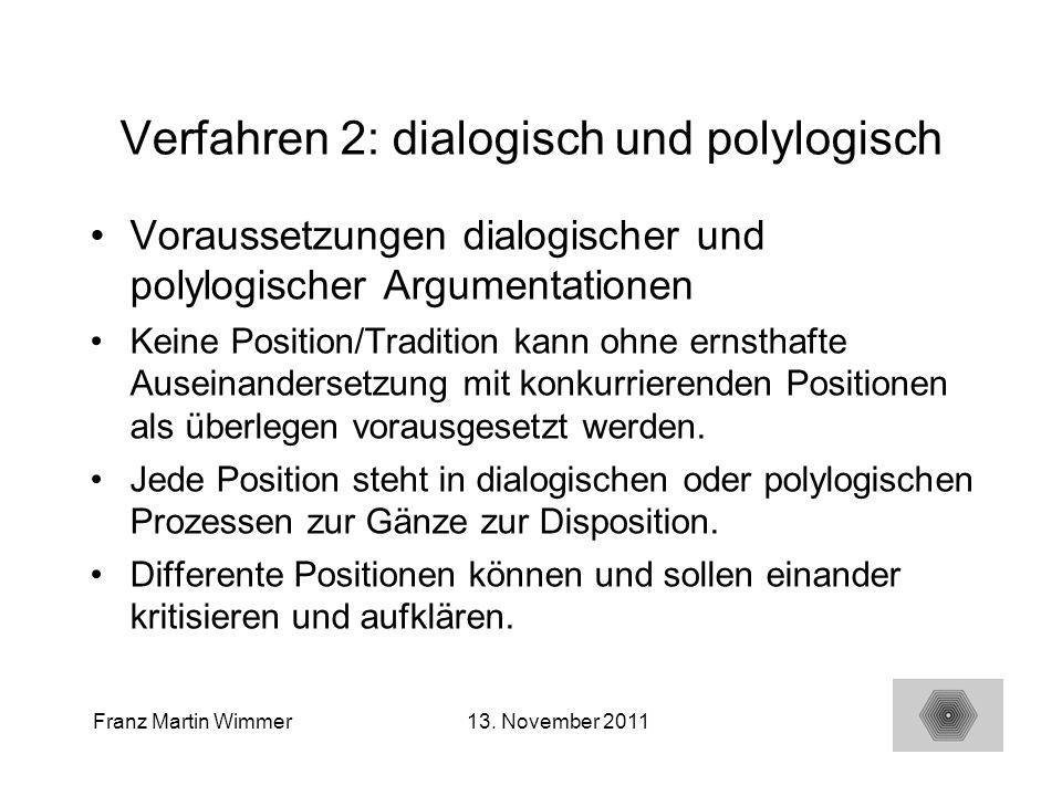 Verfahren 2: dialogisch und polylogisch