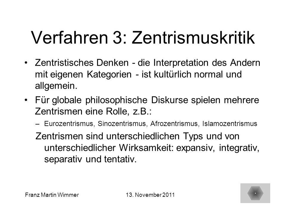 Verfahren 3: Zentrismuskritik