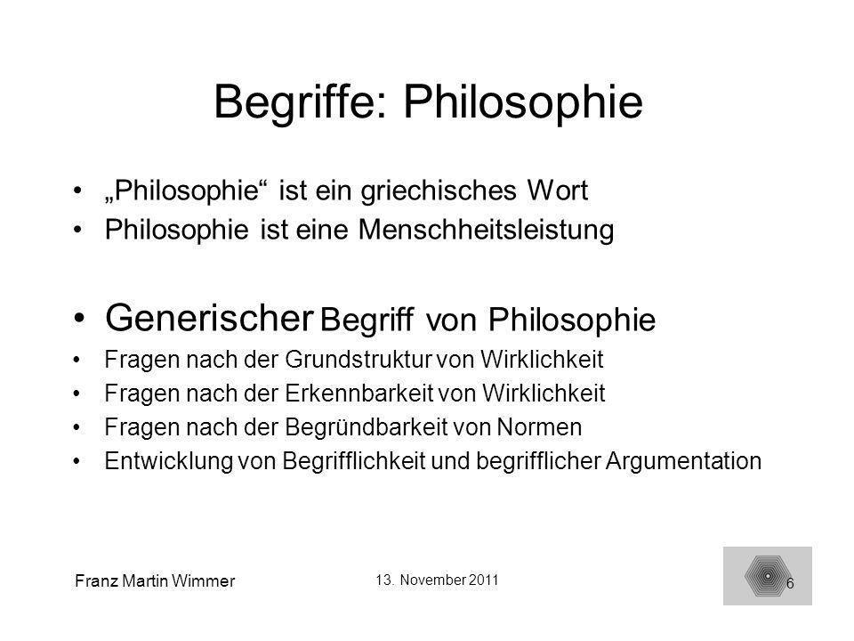 Begriffe: Philosophie