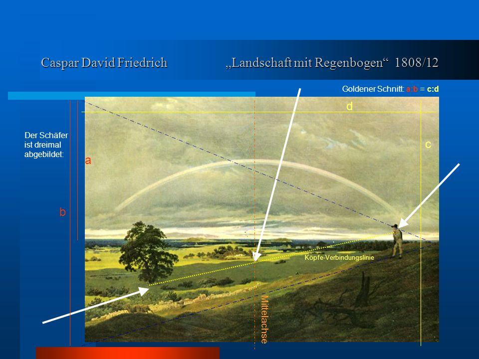 """Caspar David Friedrich """"Landschaft mit Regenbogen 1808/12"""