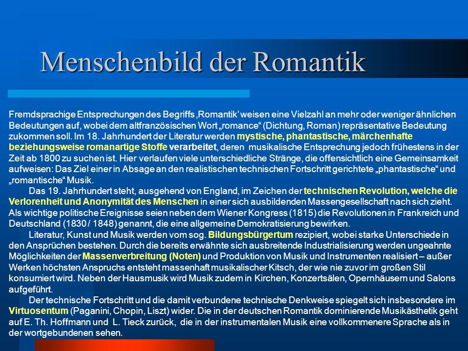 Menschenbild der Romantik