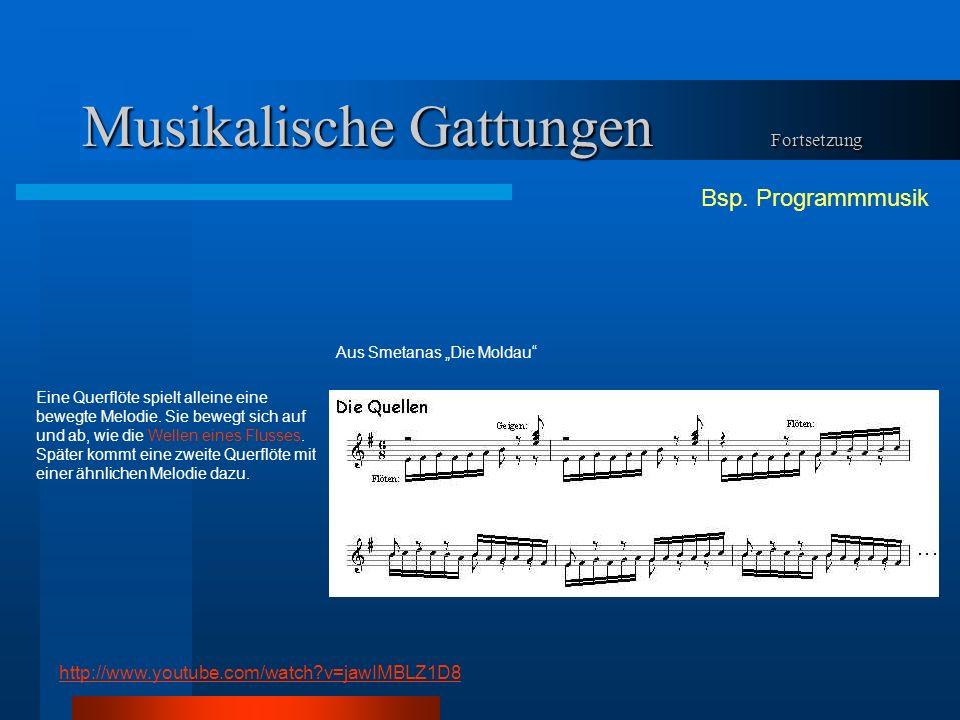 Musikalische Gattungen Fortsetzung