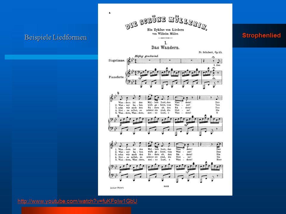 Beispiele Liedformen Strophenlied