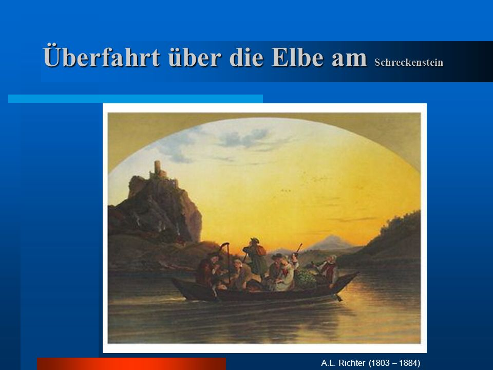 Überfahrt über die Elbe am Schreckenstein