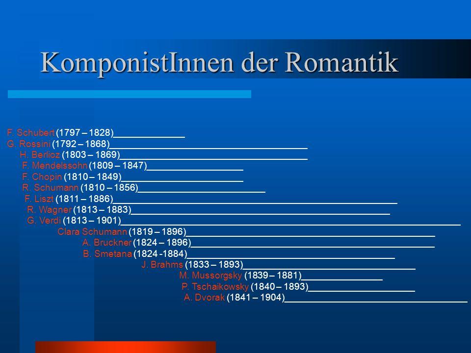 KomponistInnen der Romantik