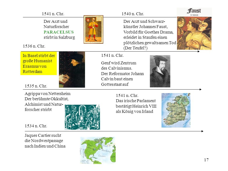 1541 n. Chr. 1540 n. Chr. Der Arzt und. Naturforscher. PARACELSUS. stirbt in Salzburg. Der Arzt und Schwarz-
