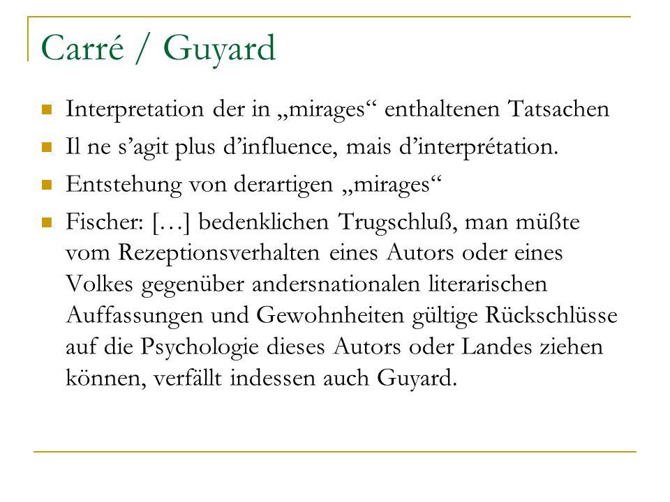 """Carré / Guyard Interpretation der in """"mirages enthaltenen Tatsachen"""