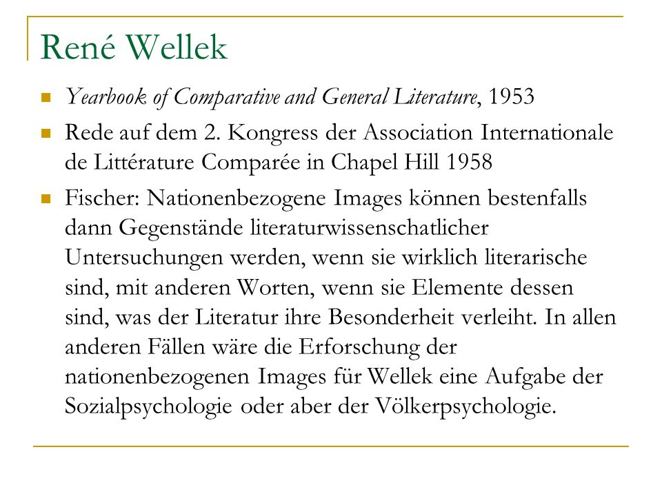 René Wellek Yearbook of Comparative and General Literature, 1953