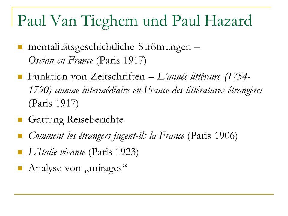 Paul Van Tieghem und Paul Hazard