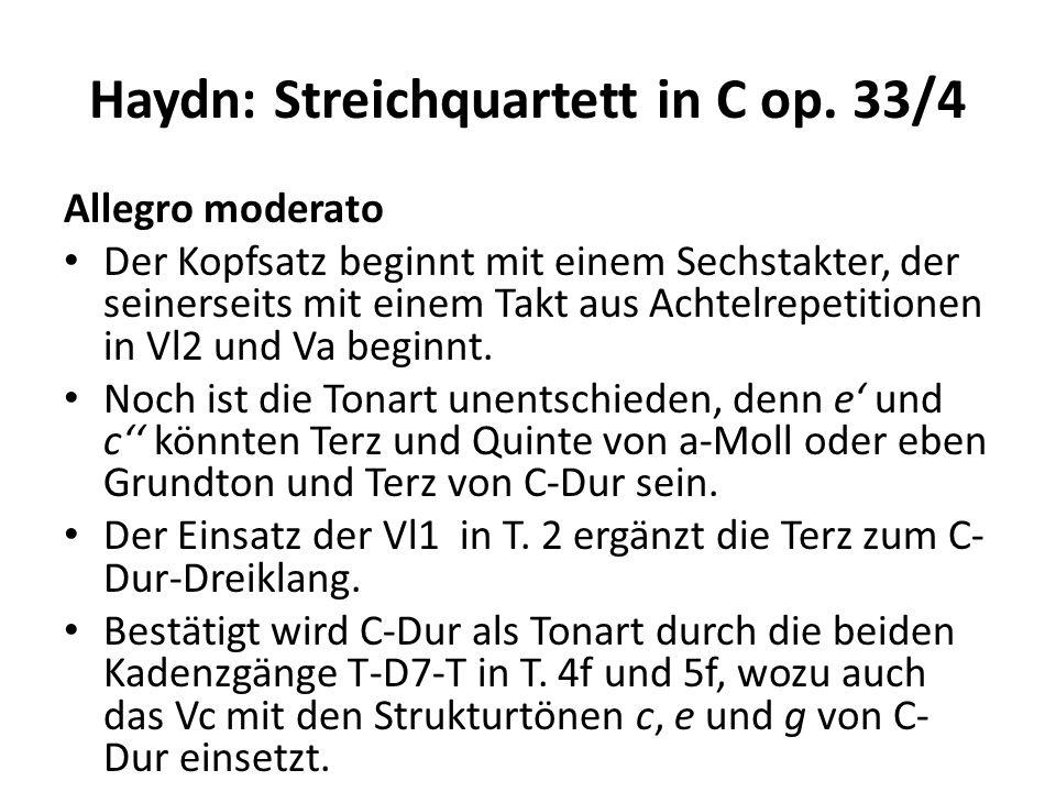 Haydn: Streichquartett in C op. 33/4