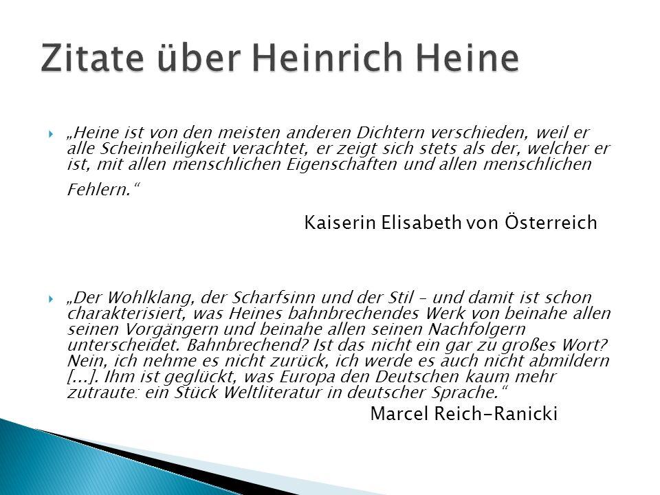 Zitate über Heinrich Heine