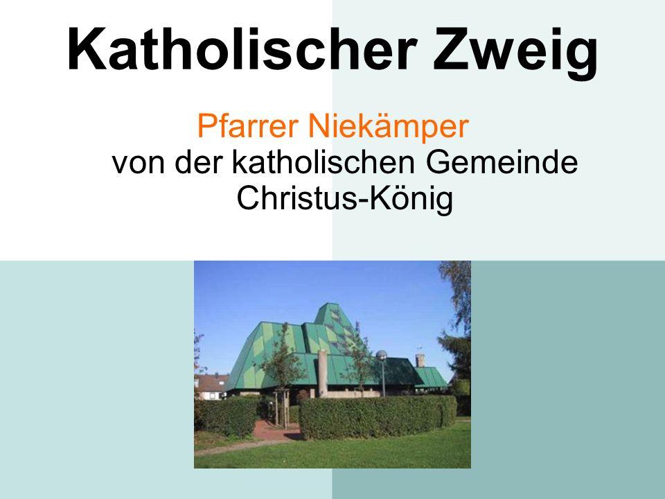 Pfarrer Niekämper von der katholischen Gemeinde Christus-König