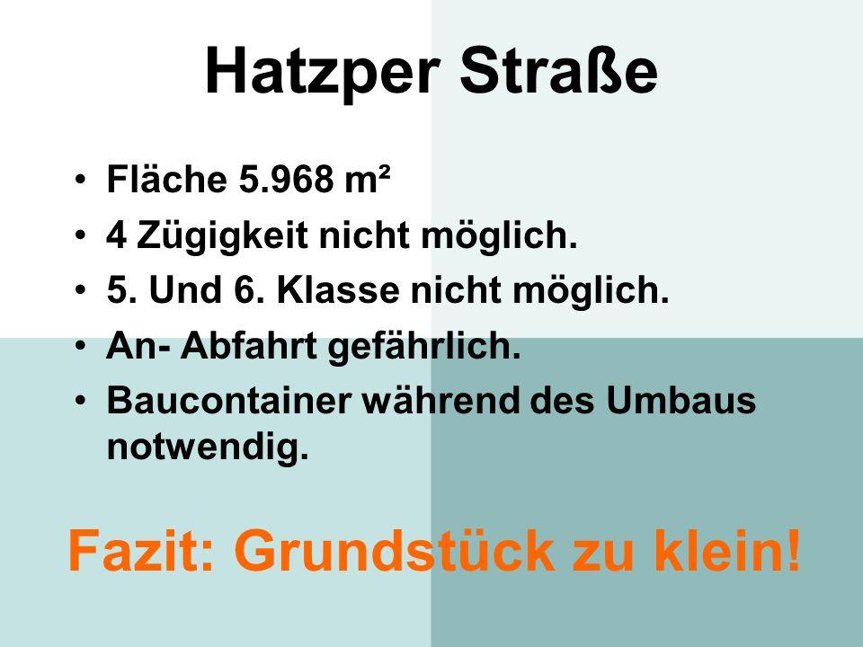 Hatzper Straße Fazit: Grundstück zu klein! Fläche 5.968 m²