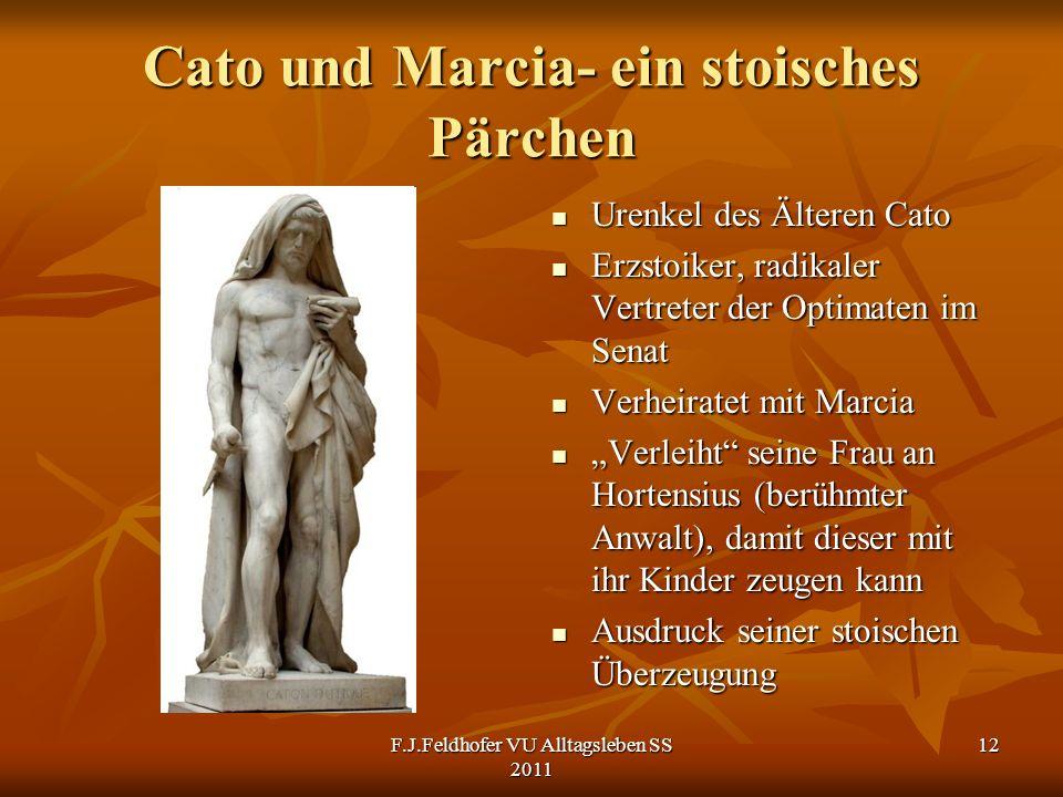 Cato und Marcia- ein stoisches Pärchen