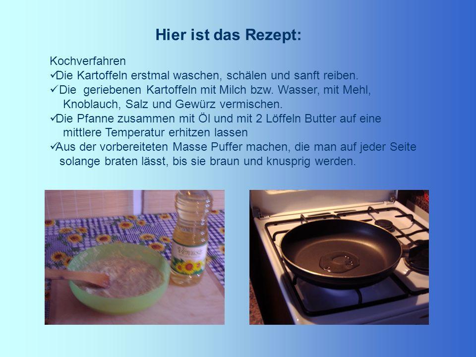 Hier ist das Rezept: Kochverfahren