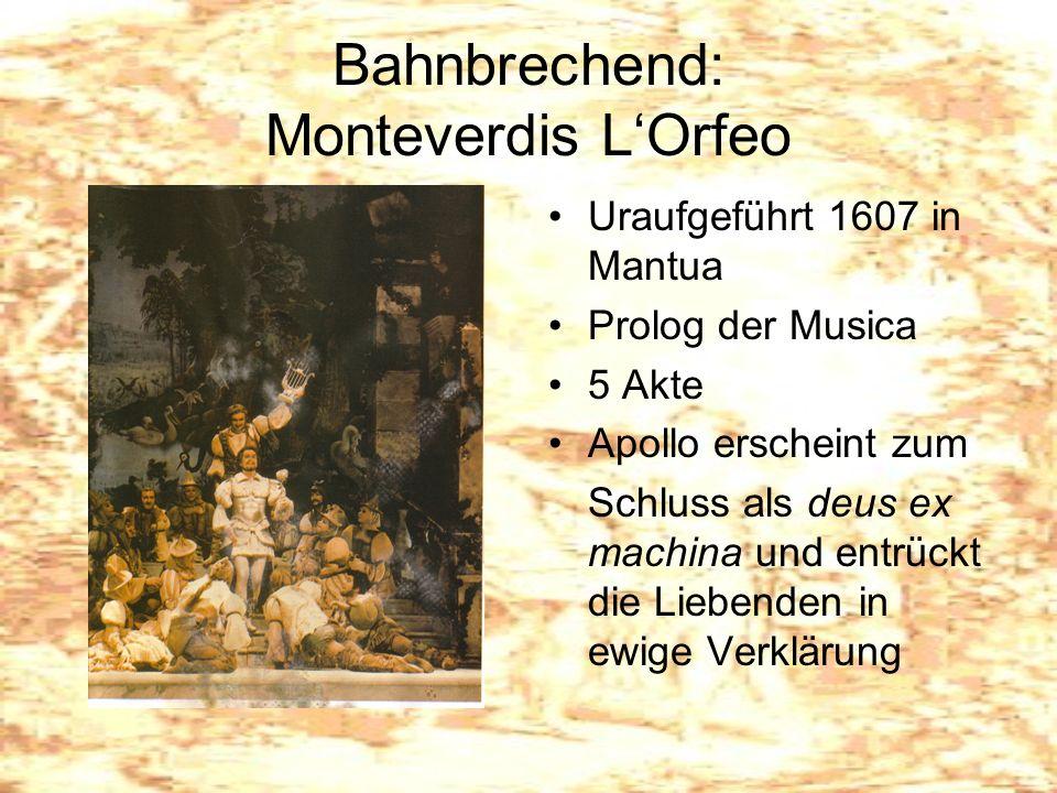 Bahnbrechend: Monteverdis L'Orfeo