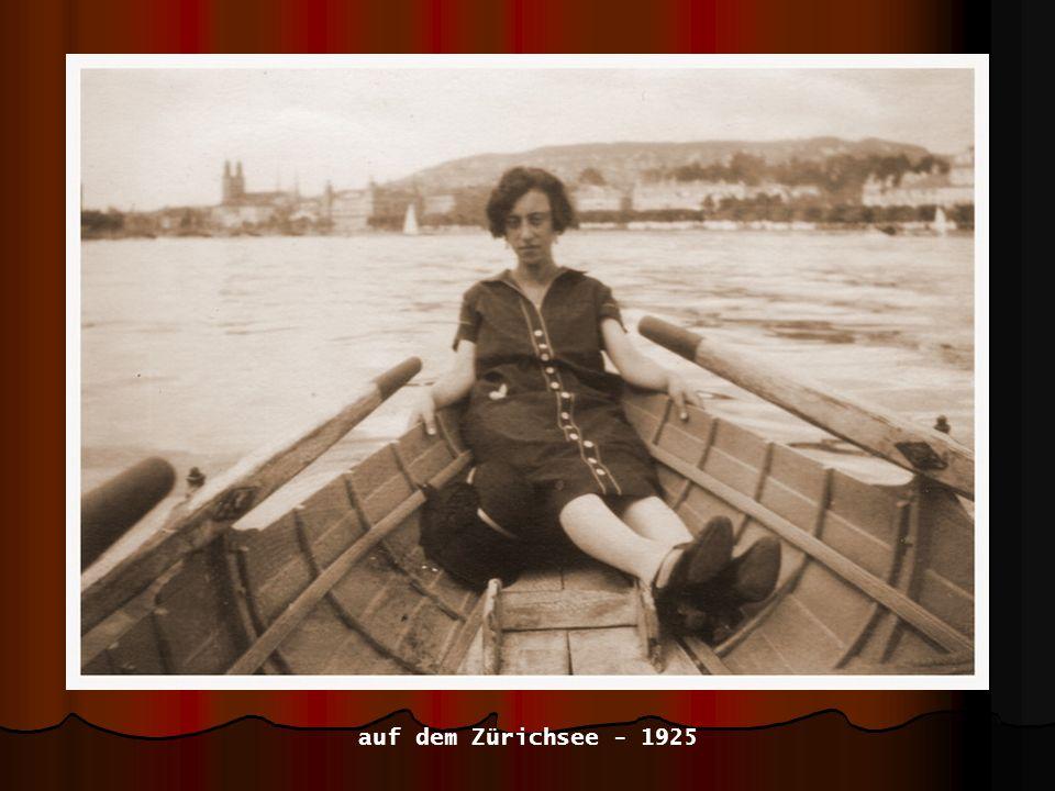 auf dem Zürichsee - 1925