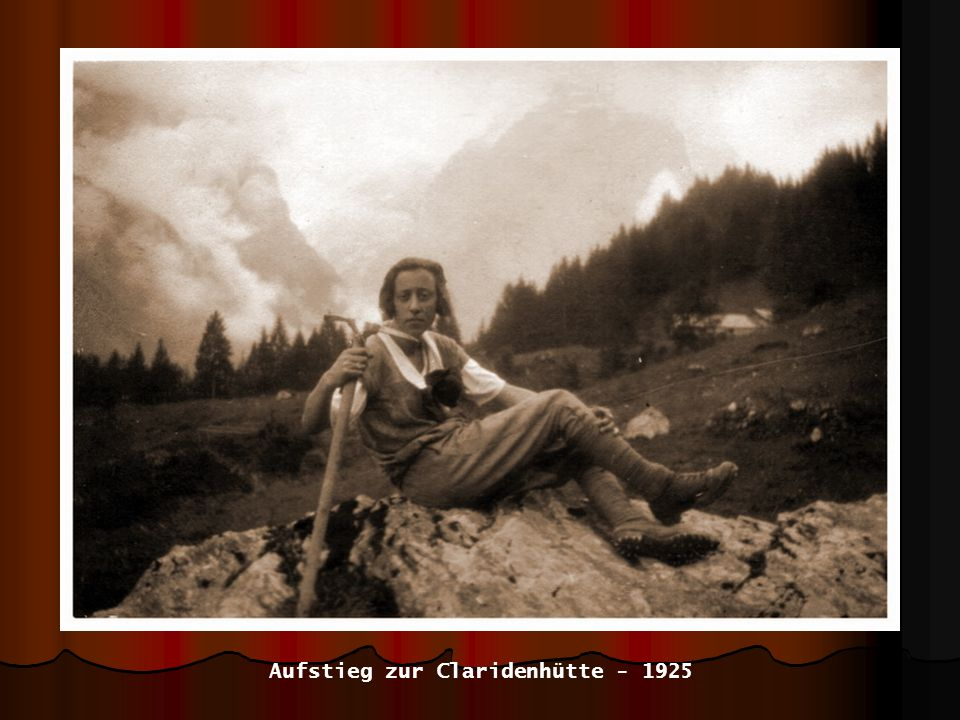 Aufstieg zur Claridenhütte - 1925