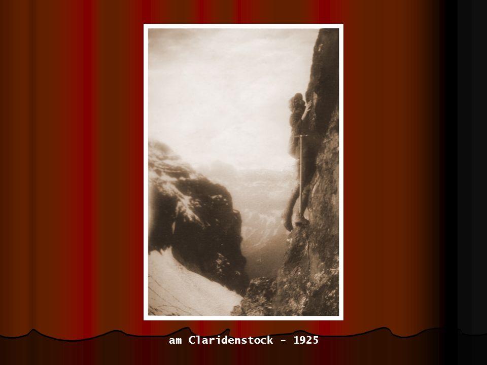 am Claridenstock - 1925