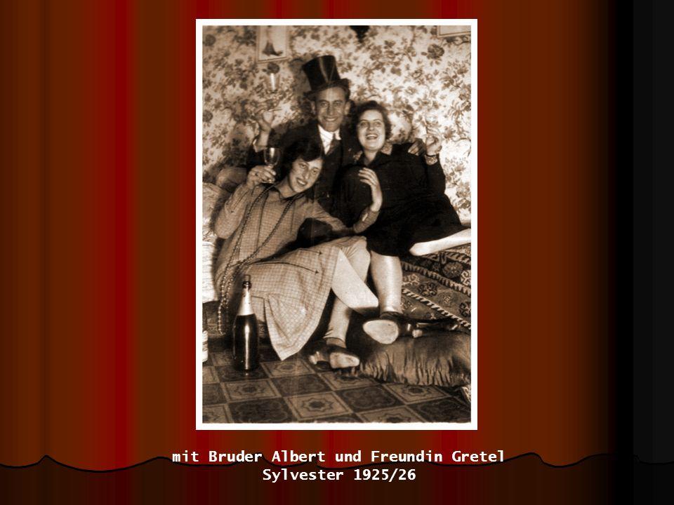 mit Bruder Albert und Freundin Gretel