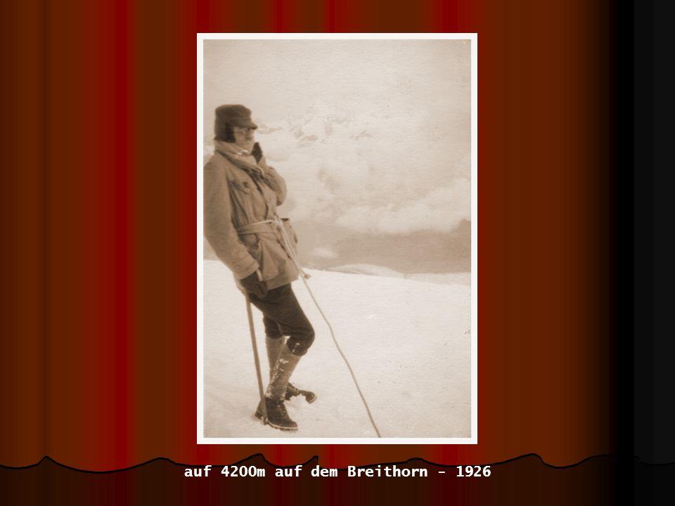 auf 4200m auf dem Breithorn - 1926